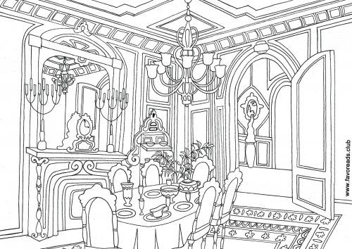 Dining Room FREE printable coloring