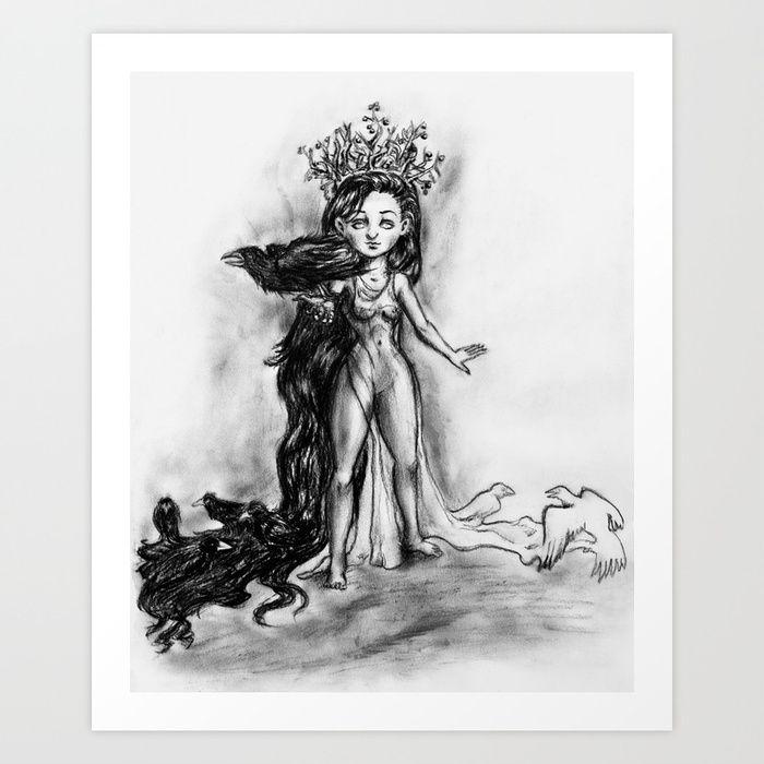 morrigan by iwan society6 com the morrigan raven queen crow pinterest