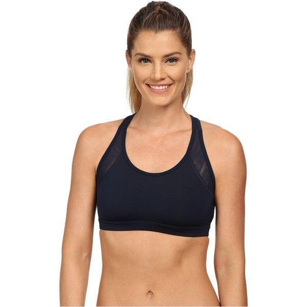 Reebok Sport Bra Women's Bra, Navy ($21) ❤ liked on Polyvore featuring activewear, sports bras, navy, reebok sportswear, navy sports bra, reebok, reebok activewear and navy blue sports bra