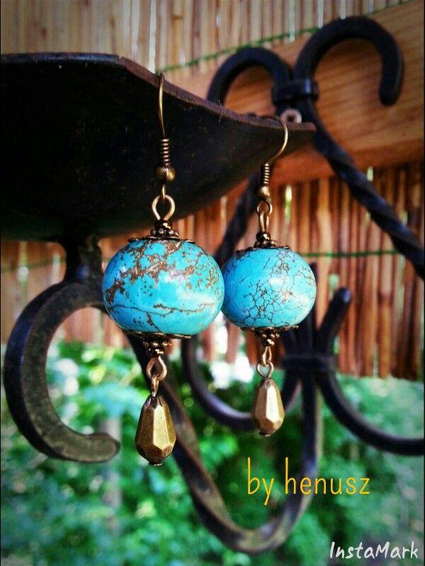 Turquoise earrings by henusz