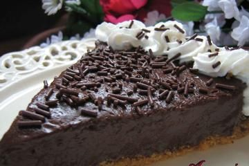 Sugar-Free Chocolate Cream Pie #stevia #recipes #diabetic