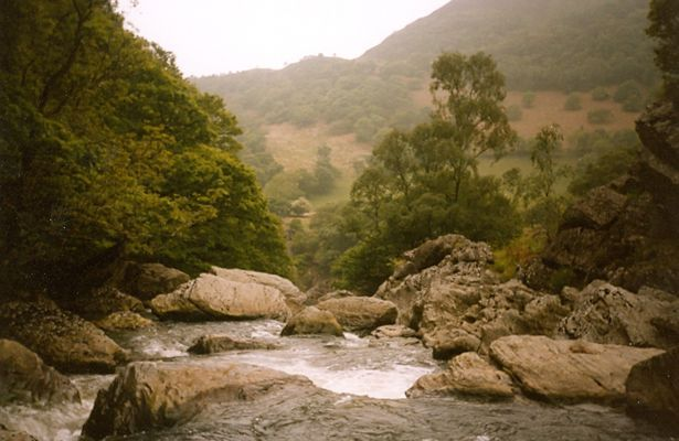 The River Towy at Rhandirmwyn Dubbed the Welsh Robin Hood, Twm Sion Cati was actually a bard and genealogist called Thomas Jones who lived in Tregaron from 1530 to 1620.  He became a highwayman robbing the rich but it appears he was a bit tight-fisted and didn't distribute a penny to the poor.  He was reputed to be a trickster and a master of deception. But he also had a soft side – he avoided maiming his victims and preferred to pin them with a well-aimed arrow to their saddles.  He hid f
