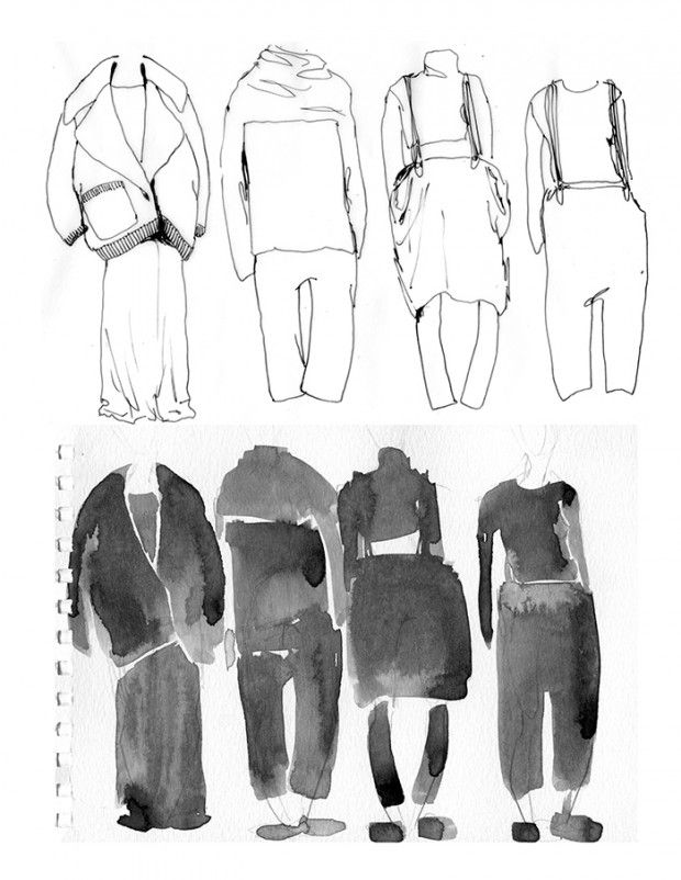 Fashion Sketchbook - fashion sketches; watercolour drawings; fashion portfolio // Grace Cox