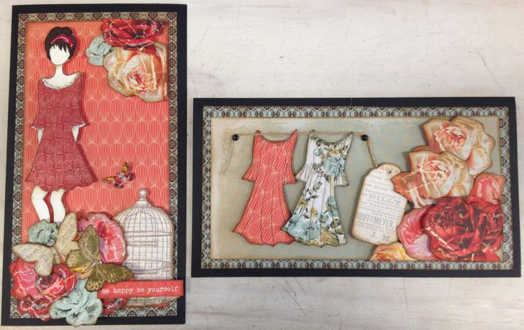 Ink2Paper - Prima doll stamp and Kaisercraft papers