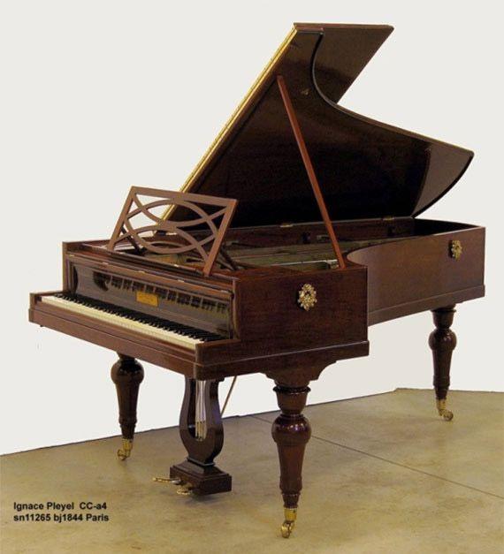 La découverte d'un piano Pleyel joué par Chopin