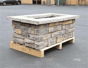 "48"" x 30"" Custom Stone Fire Pit"