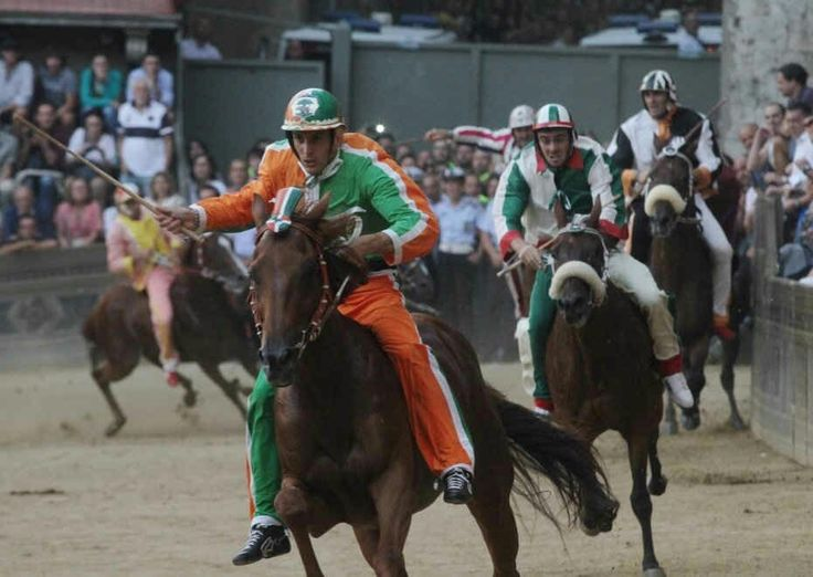 Siena Palio Race!today the most spectaculare horse race in the world...