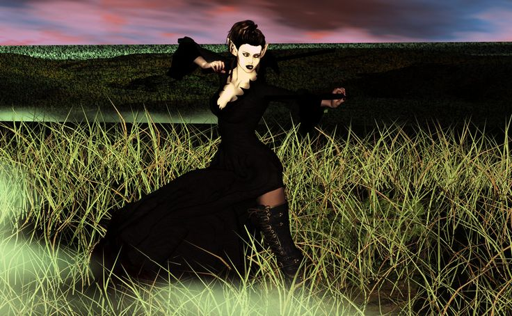 I really like the grass in this; plus her pose is strong & graceful.