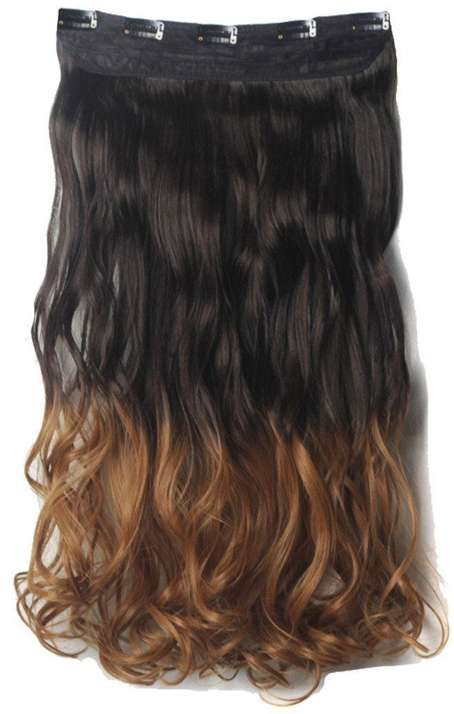 34 Full Head Clip In Hair Extensions 2430straight Curly Wavy 1