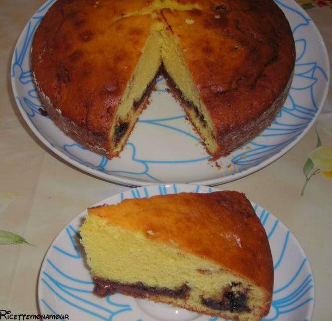 torta con philadelphia e nutella