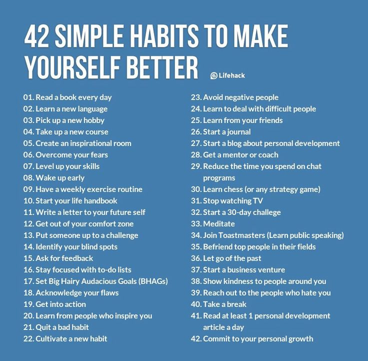 42 simple habits to make your life better.