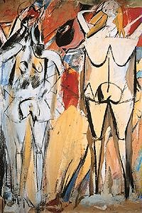 Willem De Kooning, Two Standing Women  U.S. Abstract Expressionism