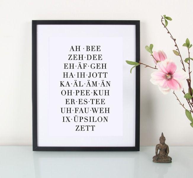 Alphabet Artprint // alphabet typo print by EULENSCHNITT via DaWanda.com