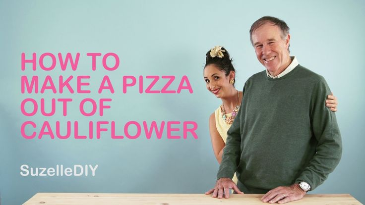 Suzelle DIY joined by Tim Nokes - How to make a pizza out of cauliflower