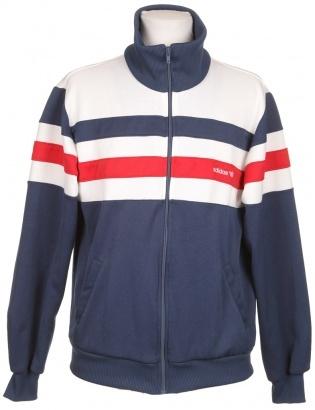 Vintage Adidas Tracksuit Jacket White, Navy & Red