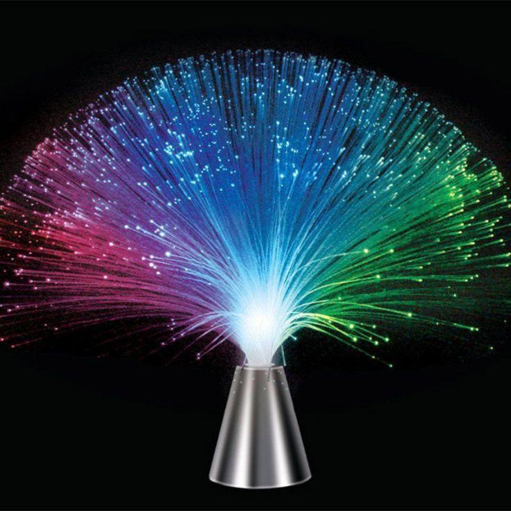 Indah romantis multicolor mengubah led fiber optic lampu malam lampu untuk liburan pesta pernikahan rumah dekorasi, babysbreath