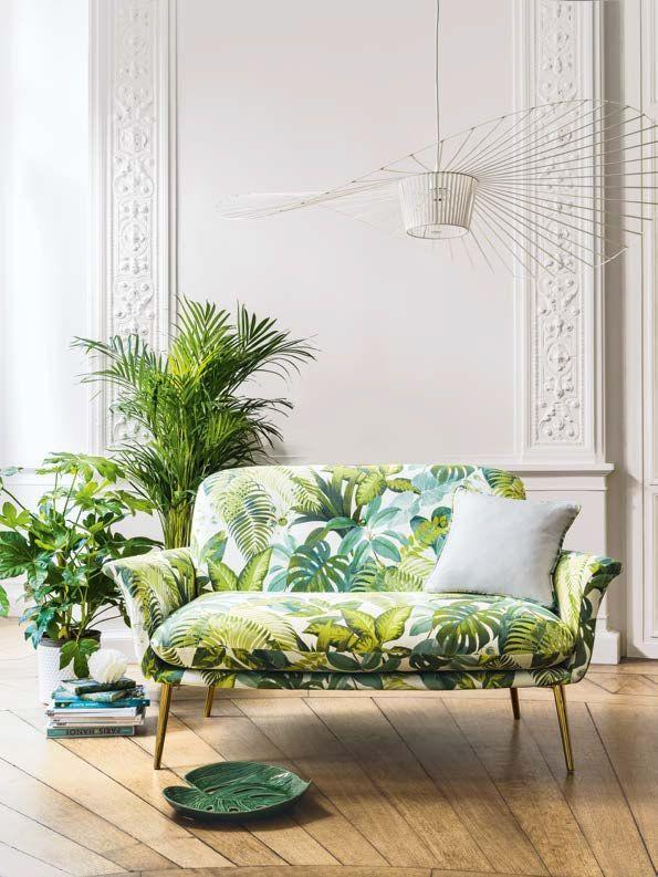 Print Fabric With Dense Foliage