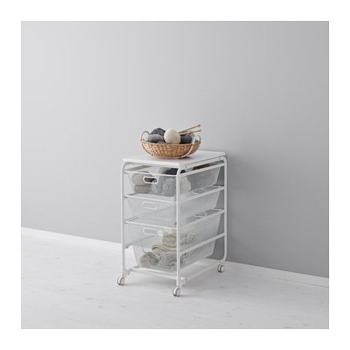 IKEA - ALGOT, Frame/mesh baskets/top shelf/caster, The parts in the ALGOT series can be combined in many different ways and easily adapted to your needs and space.The basket glides smoothly and has a pull-out stop to keep it in place.Can be used anywhere in your home, even in damp areas like the bathroom and under covered balconies.