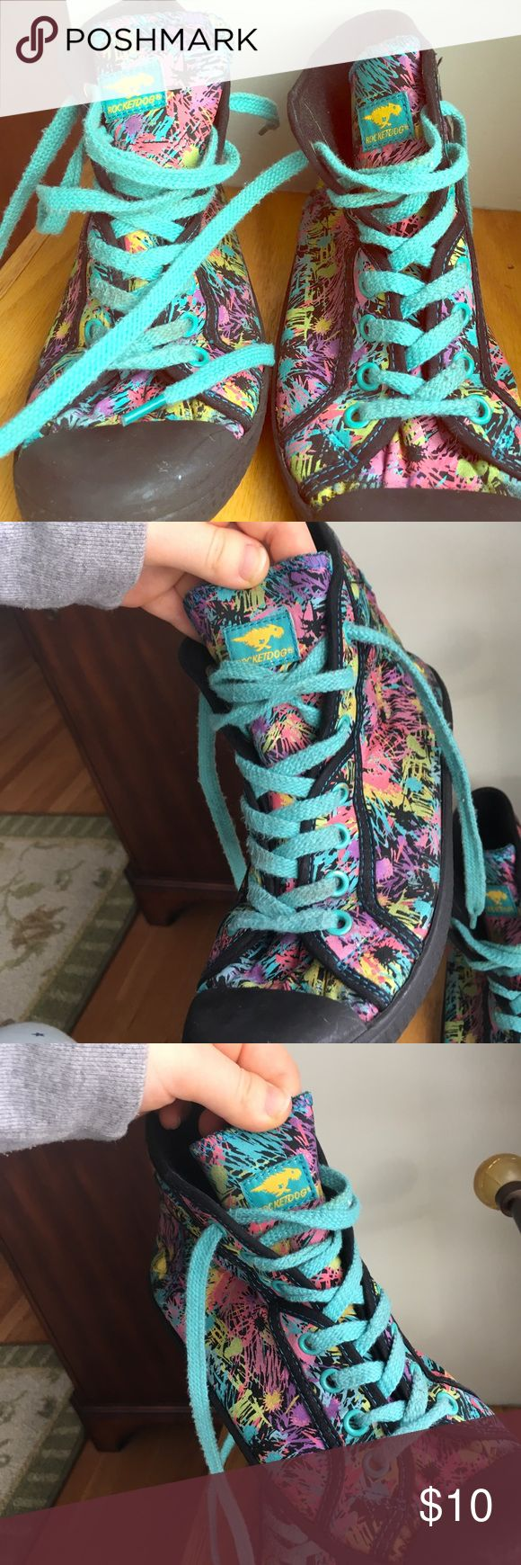 Paint Patterned High Top Rocket Dogs Paint Patterned High Top Rocket Dogs. Some wear Rocket Dog Shoes Sneakers