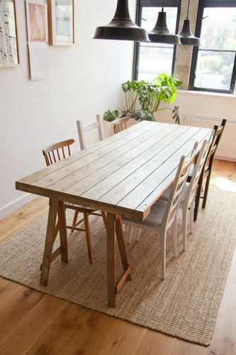 Here Is An Old Door Turned Into A Dining Table How Fun That
