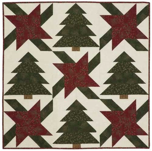 Forest Blooms Topper Quilt Pattern Christmas Table