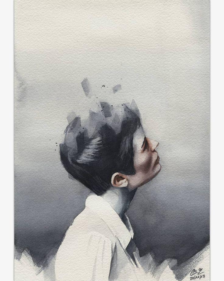 (@miro_z_art)   Small watercolor   #portrait #face #figure #watercolor #painting #paint #art #artwork #fineart #contemporaryart #watercolorpainting #watercolorart #watercolour #aquarelle #akvarell #brush #paper #miro_z #waterblog #cartel_watercolorists #instaart #arts_help #beautifulbizarre #artist_4_shoutout #onyxkawai