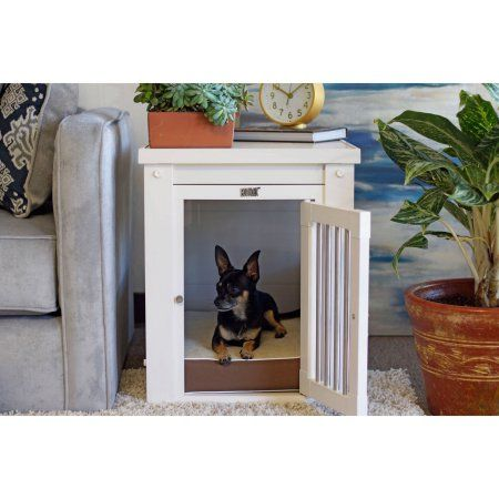 New Age Pet ecoFLEX Medium Dog Crate with Spindles, Antique White