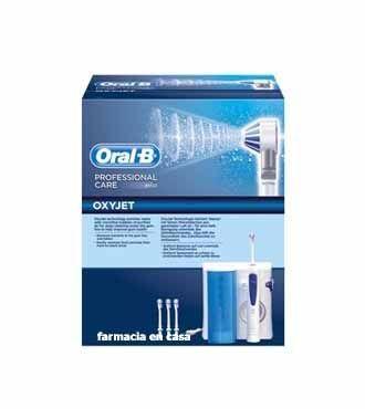 Oral-B Professional Care OxyJet emplea tecnología de microburbújas para combatir las bacterias de la placa. Combina aire y agua en microbúrbujas para reducir de forma significativa el sangrado y las bacterias asociadas a la enfermedad gingival, cuando su uso se combina con el cepillado. Es posible controlar la presión del agua, de 1 (baja presión) a 5 (alata presión), según las necesidades del usuario. El WaterJet cuenta con un depósito de agua con capacidad  600 ml.74,95€…