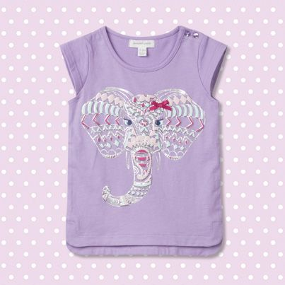 Pumpkin Patch Elephant Print Top - 100% cotton, available in sizes 12-18m to 6 years http://www.pumpkinpatchkids.com/