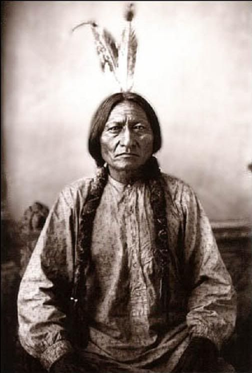 Sitting Bull, however (pictured) refused to order his people to stop dancing, and in consequence was arrested and killed, an act that led two weeks later to the infamous massacre at Wounded Knee, where 153 Sioux Indians, mostly women and children, were needlessly slaughtered by the US Army. But the Indian spirit was not slaughtered with them. The Ghost Dance continues to this day, and to some large extent the hopes of many Native Americans remain pinned to the prophecy that spawned it.