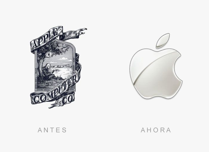 20 Logos de empresas que mudaram bastante através dos anos