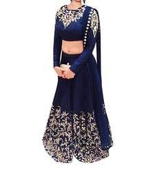 Buy Blue Georgette embroidered lehenga-choli ghagra-choli online