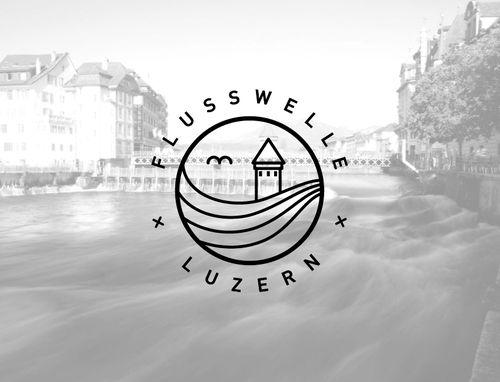 "Logo for the River Wave Association ""Flusswelle Luzern"" – Sibylle Meyer haveasib.com"