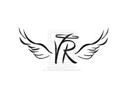 angel_wings_initial_tattoo_by_dizzycat499.jpg 250×200 pixels