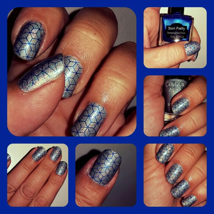 Blue-holo stamping