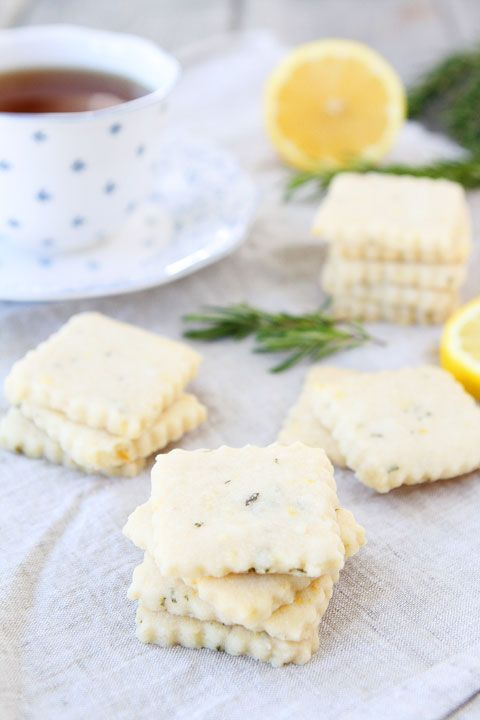 Lemon Rosemary Shortbread Recipe on twopeasandtheirpod.com Love these little lemon cookies!