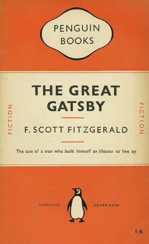 Original Penguin Book Cover for 'The Great Gatsby' designed by Jan Tschichold