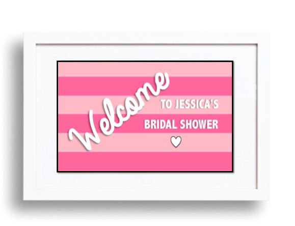 Victoria's Secret Themed Pink Striped Table Signs are PERFECT for a VS Themed Shower