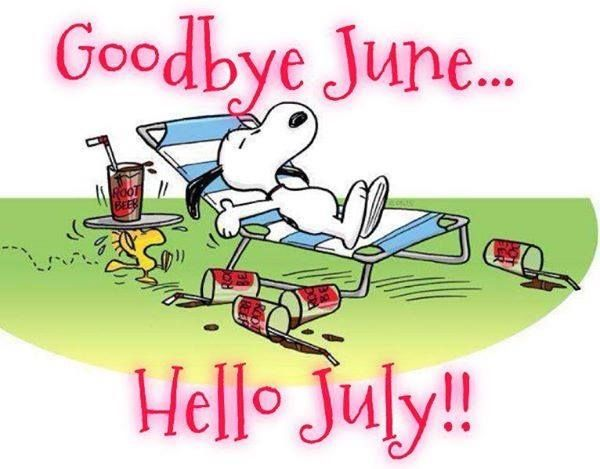 Snoopy ~ Goodbye June Hello July  Snoopy & Scooby-Doo  Pinterest  Bell...