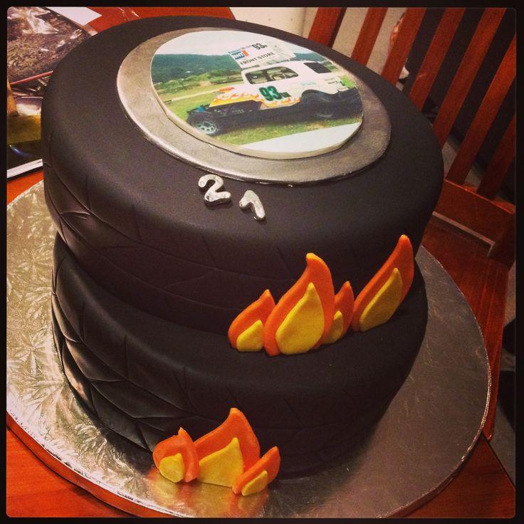 Stock car, tyre cake