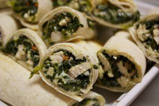 Friendly Kitchen: Chicken Spinach Roll-Ups inspired by Zoe's Kitchen