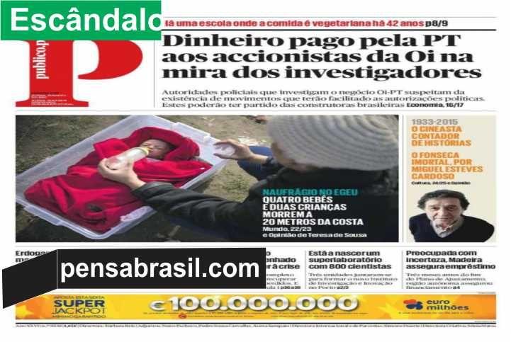 GENEBRA - A Polícia de Portugal está investigando pessoas próximas ao ex-presidente Luiz Inácio Lula da Silva, bem como a ex-governantes e gestores brasileiros e portugueses , num inquérito relacionado ao negócio fechado entre a operadora Oi e a Portugal Telecom (PT) em 2010. As revelações foram publicadas nesta segunda-feira pelo jornal português Público e confirmadas pelas autoridades policiais do país europeu. A suspeita é de que pagamentos teriam aberto as portas para que o acordo…