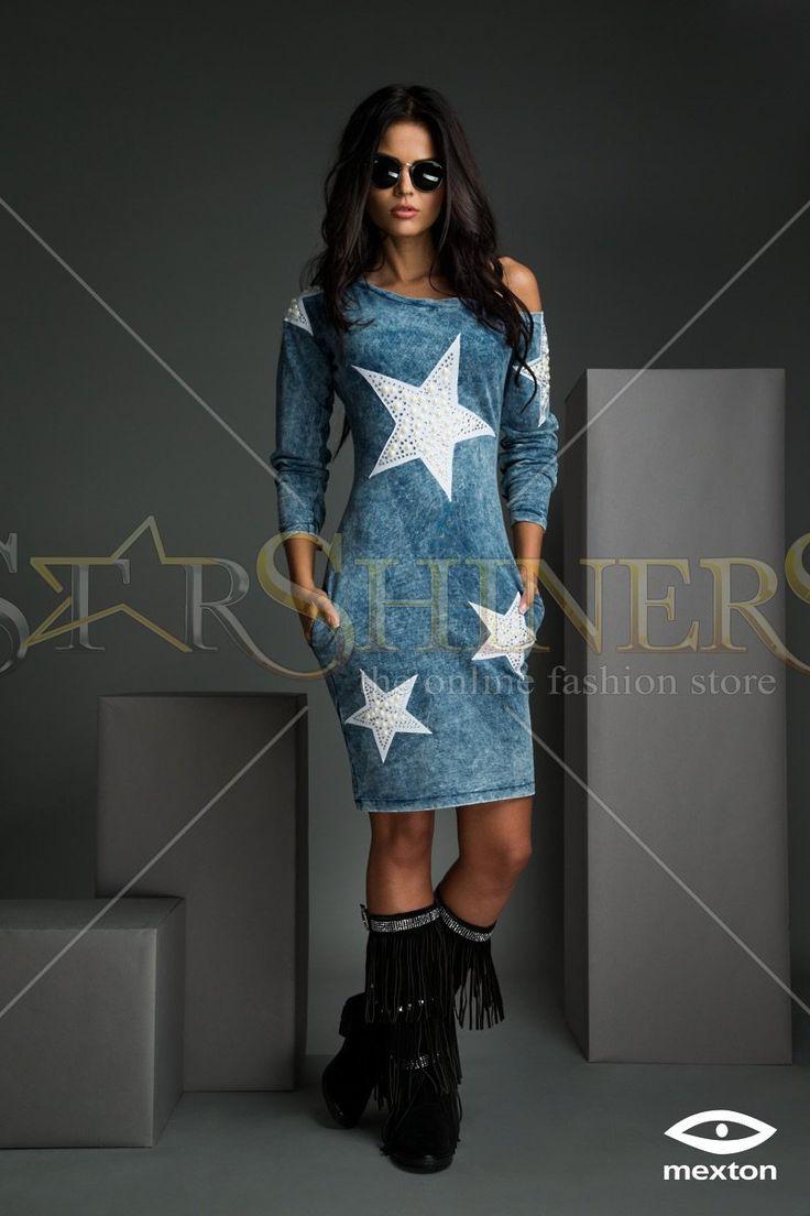 Mexton Weekend Catwalk Blue Dress
