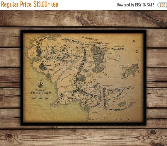 Best 25 map of middle earth ideas on pinterest middle earth map black friday cyber monday sale off map of middle earth middle earth map lord of the rings posterfan art christmas gift idea sciox Gallery