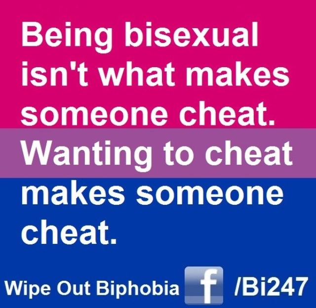 Accepting partner is bisexual