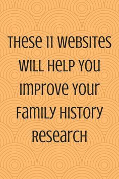Check out these great family history websites!
