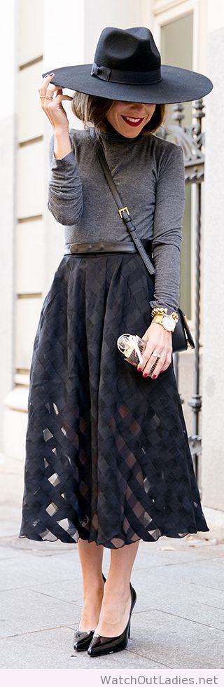 Grey and black street style