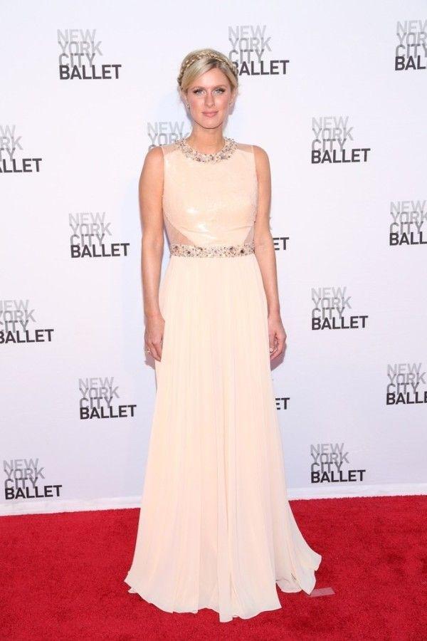 Fabulously Spotted: Nicky Hilton Wearing Kathy Hilton Designs - New York City Ballet 2013 Fall Gala  - http://www.becauseiamfabulous.com/2013/09/nicky-hilton-wearing-kathy-hilton-designs-new-york-city-ballet-2013-fall-gala/