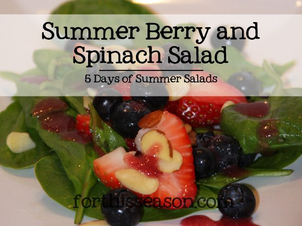 Summer Berry and Spinach Salad (Dairy Free Recipe)