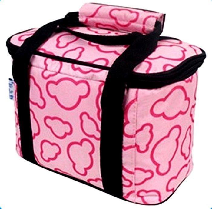 waterproof Camping lunch cooler bag in pink 4,5 litres #Icebag